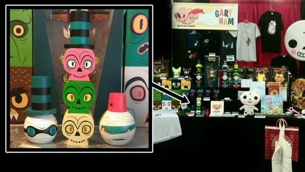 Gary Ham's Custom Wood Toytem Pieces from DesignerCon 2012