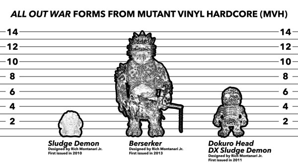 Examples of pieces from Mutant Vinyl Hardcore (MVH)