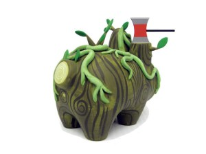 Amanda Visell's Swamp Thing Wood Labbit Custom, 2009