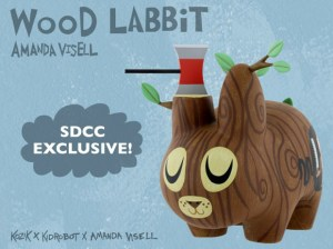Amanda Visell's Wood Labbit - San Diego Comic-Con (SDCC 2009) with Frank Kozik & Kidrobot