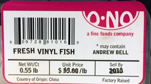Andrew Bell's O-No Sushi & O-No Sashimi packaging