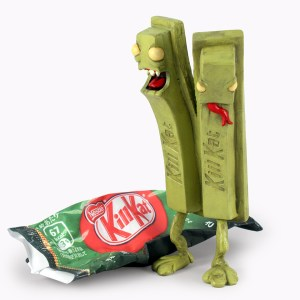 Andrew Bell - Kill Kat - Original sculpture, Green Tea Terror version, 2013