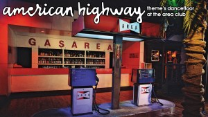 Area Nightclub NYC's American Highway theme's dancefloor