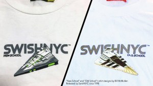 Bill McMullen's New School & Old School t-shirts from SwishNYC, 1998