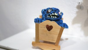 Tim Clarke's Congratulations, Its A Boy! at Clutter Gallery's Boglins Custom Toy Show exhibition
