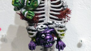 Tim Clarke's Tails From The Crypt at Clutter Gallery's Boglins Custom Toy Show exhibition
