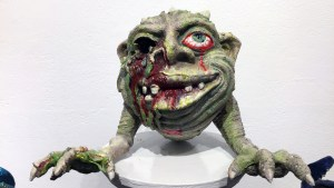 Tim Clarke's Boglin Zombie at Clutter Gallery's Boglins Custom Toy Show exhibition