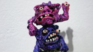 Tim Clarke's Tower of Terror at Clutter Gallery's Boglins Custom Toy Show exhibition