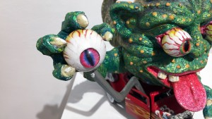 Tim Clarke's Boglin Hot Rod at Clutter Gallery's Boglins Custom Toy Show exhibition