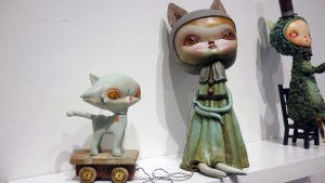 Cirque Noir exhibition - Kathie Olivas' Girl with Cat