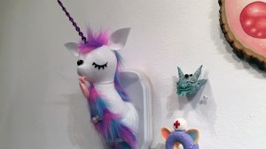 Misfit Menagerie's Unicorn from Gift Wrapped 2016 at The Clutter Gallery