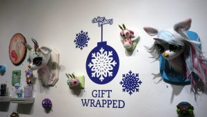 Interior display for Gift Wrapped 2016 exhibition at The Clutter Gallery