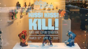 Kiss, Kiss, Kill! - Window display