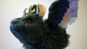 Stitched 2 Exhibition - Lee's Menagerie's Baby Wolpertinger: Moonbeam