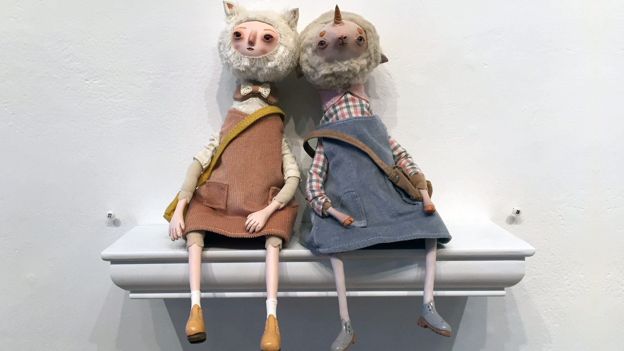 Stitched 2 Exhibition - Claymate Creatures' Anna the Fox &