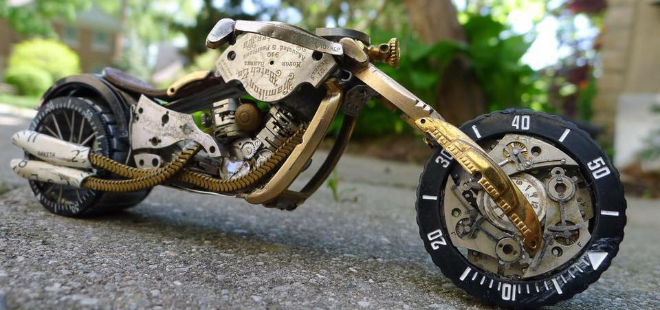 Watch Parts Motorcycles' The Stop Motion Chopper