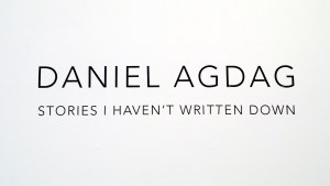 Daniel Agdag's Jonathan LeVine Gallery exhibition, title card