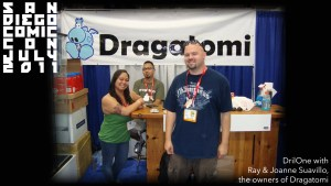 DrilOne & Dragatomi's owners at San Diego Comic-Con, 2011