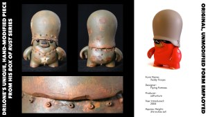 DrilOne's Box of Rust custom blind boxed series, Flying Fortress' Teddy Troops