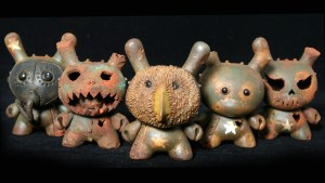 DrilOne's Box of Rust custom blind boxed series, Dunny grouping