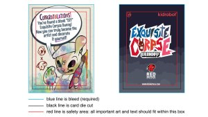 Blank DIY Exquisite Corpse Dunny Artist Card