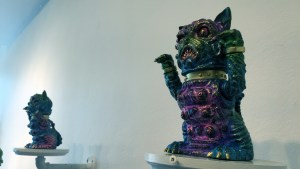 The Great Unknown exhibition - Wonder Goblin - Manky Neko (Blue)