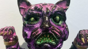 The Great Unknown exhibition - Wonder Goblin - Manky Neko (Pink)