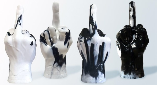 Hong Kong Contemporary Art (HOCA) Benefit Auction 2016 - Haroshi's Middle Finger - Set of 4