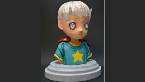 Hikari Shimoda's Children of This Planet sculpture from APPortfolio, quarter turn right