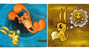 Joe Ledbetter's Mr. Bunny painting examples, circa 2004