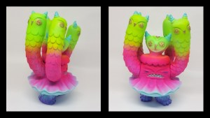 Nathan Jurevicius' Technicolor Owl Clam from Toy Art Gallery (TAG)