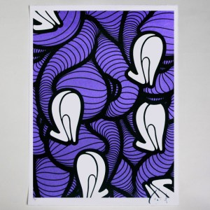 INSA's Heels (Graffiti Fetish) screenprint - Purple Inverted