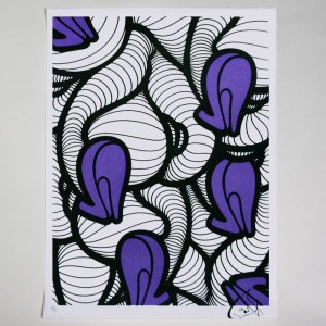 INSA's Heels (Graffiti Fetish) screenprint - Purple