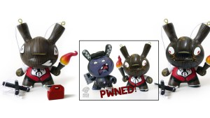 Most Wanted 3 Custom Dunny: Igor Ventura's Pyromaniac Puppet AP & Pwned! Version with Sergio Mancini