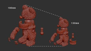 InstincToy's Mini Muckey - 3D Scaling