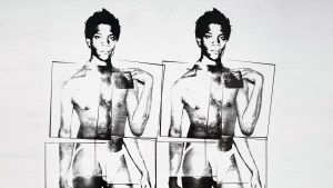 Jean-Michel Basquiat as David by Andy Warhol