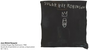 Jean-Michel Basquiat's Sugar Ray Robinson painting, 1982