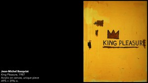 Jean-Michel Basquiat's King Pleasure painting, 1987