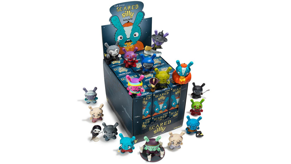 The Bots' Scared Silly Dunny Series from Kidrobot, case & complete set, 2017