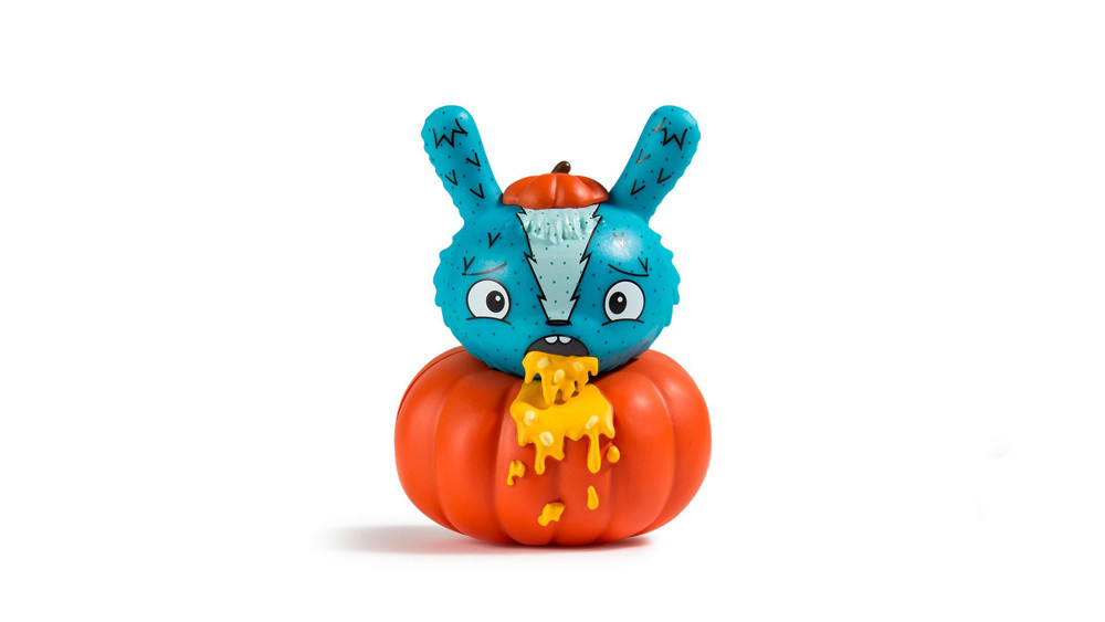 The Bots' Scared Silly Dunny Series from Kidrobot, Pumpkin Puker, 2017