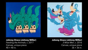 Johnny Draco's Feeding the Animals & 3 Wise Men paintings