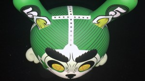 "Josh Divine's Cash Wolf 5"" Dunny from Kidrobot - Retailer/Green Edition"