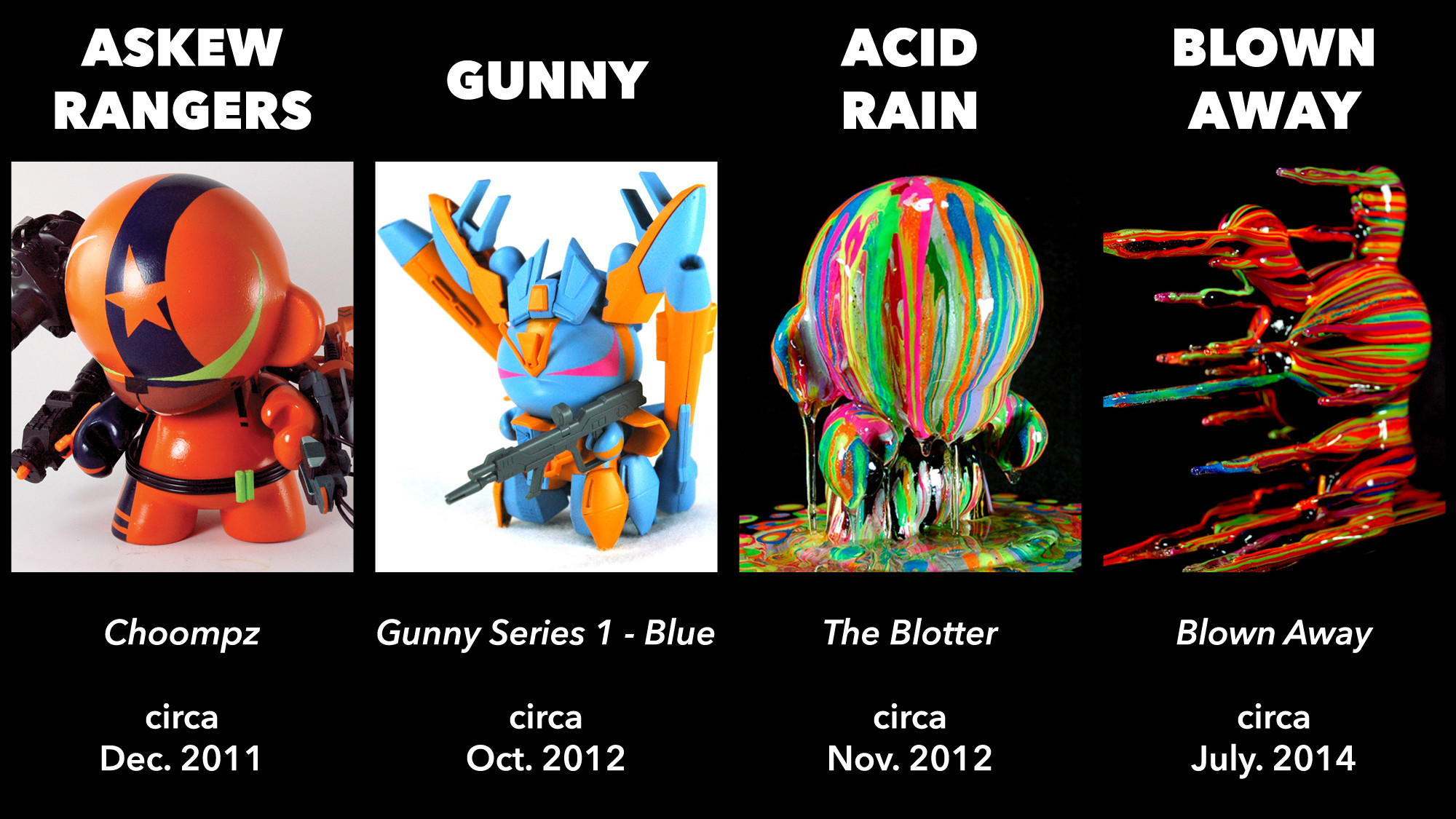 Josh Mayhem's Art Periods - Askew Rangers, Gunny, Acid Rain, and Blown Away