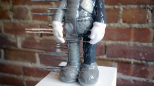 Josh Mayhem Solo Show - Blown Away - Disintegrated Companion - Grey (Custom KAWS Flayed Piece)