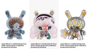 Junko Mizuno's Dunnys from Series 5, Series 2012, and the Fatale Series, all from Kidrobot