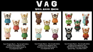 Kaori Hinata's Vinyl Artist Gacha (VAG) versions of Morris — The Cat with Antlers