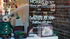 Kaori Hinata's Morris in New York window display