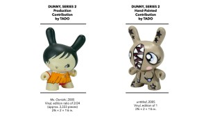 Kidrobot's Dunny Series 2 - TADO's Production & Hand-Painted Pieces