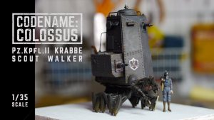 Michael Sng / Machination Studio's Codename: Colossus — Pz.Kpfl.II Krabbe Scout Walker