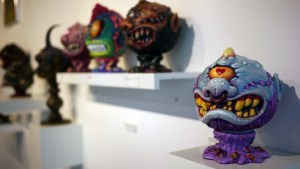 Madballs All-Star Art Jam and Exhibition - Carlos Villagra's HornHead in Love